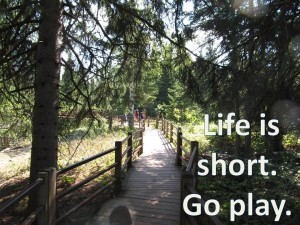 Life is short.  Go play path