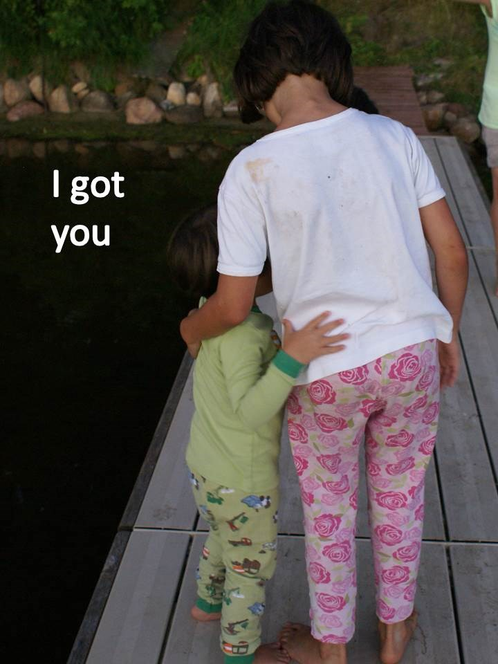 I got you.  Gracie and Will on the dock.