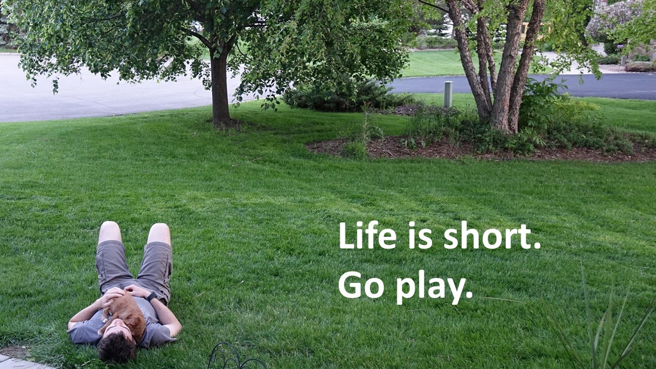 Life is short.  Go play nap