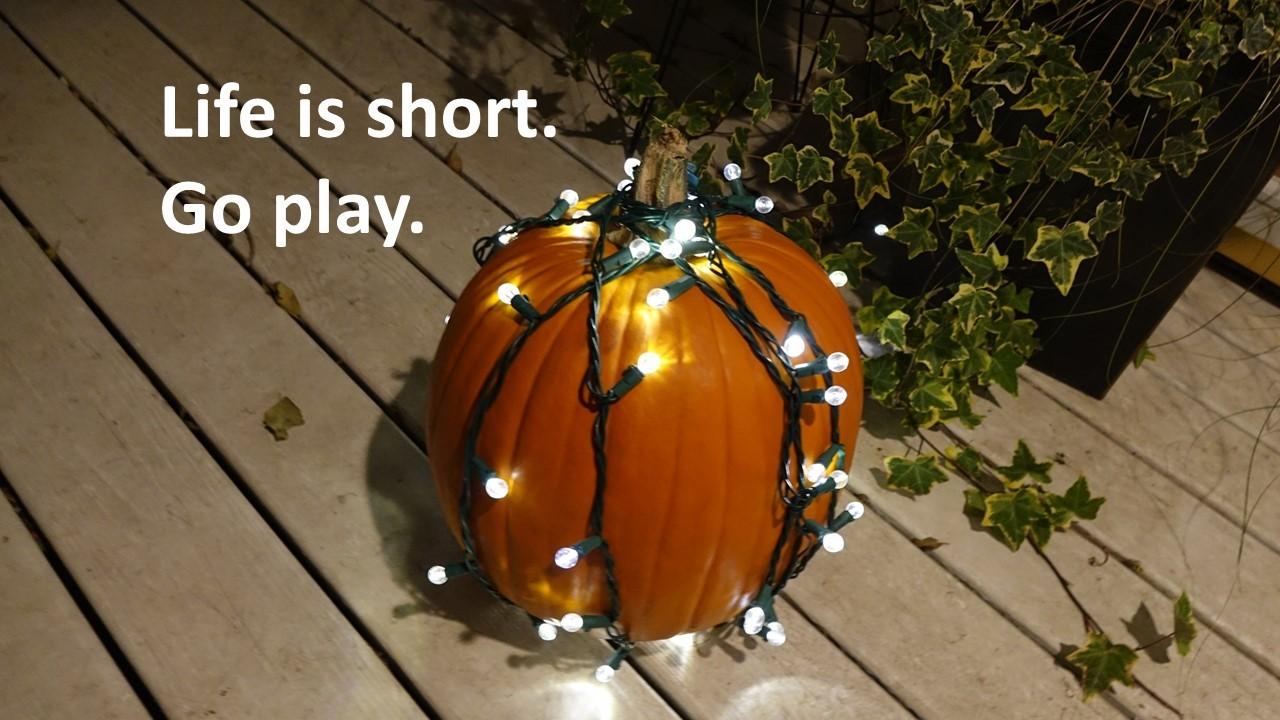 Life is short halloween pumpkin