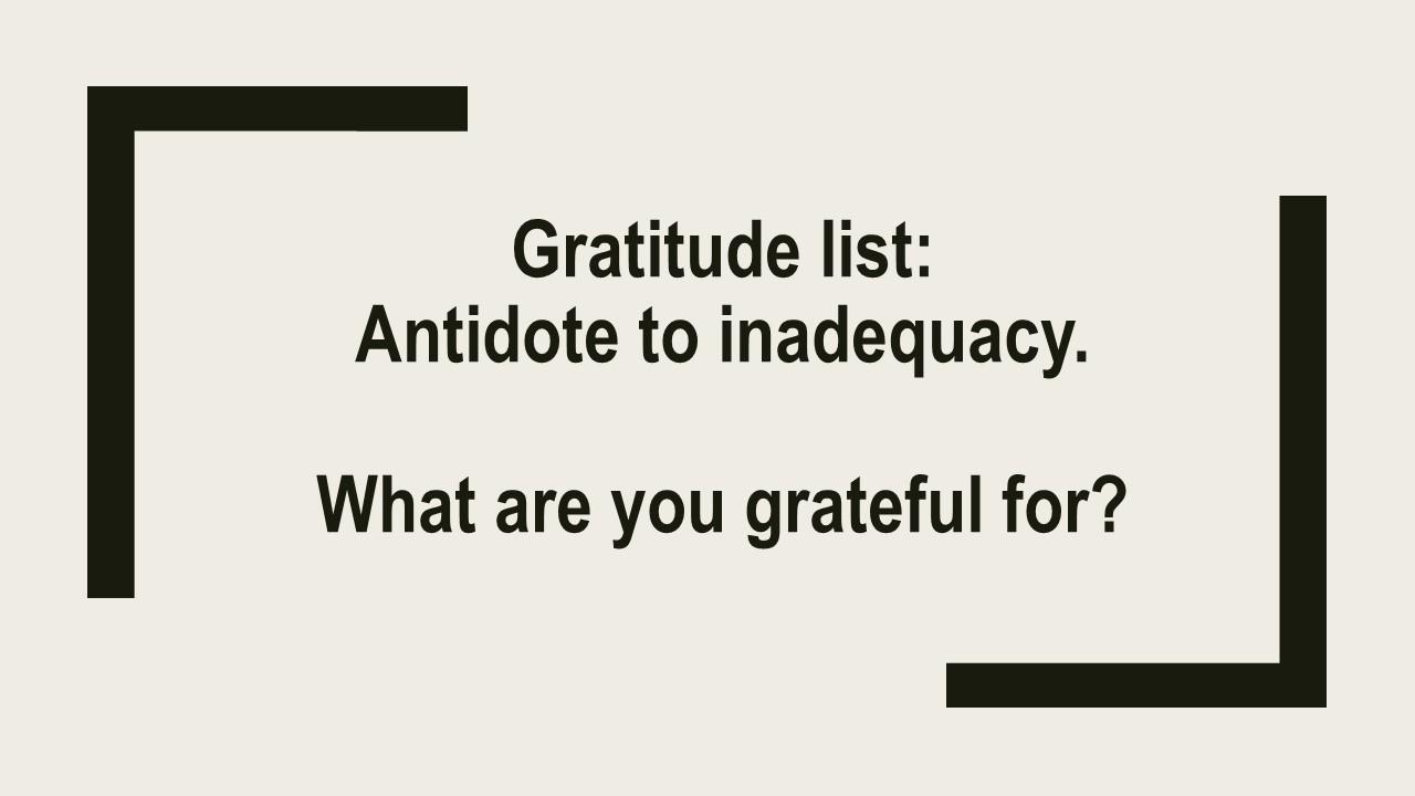 WM Gratitude list